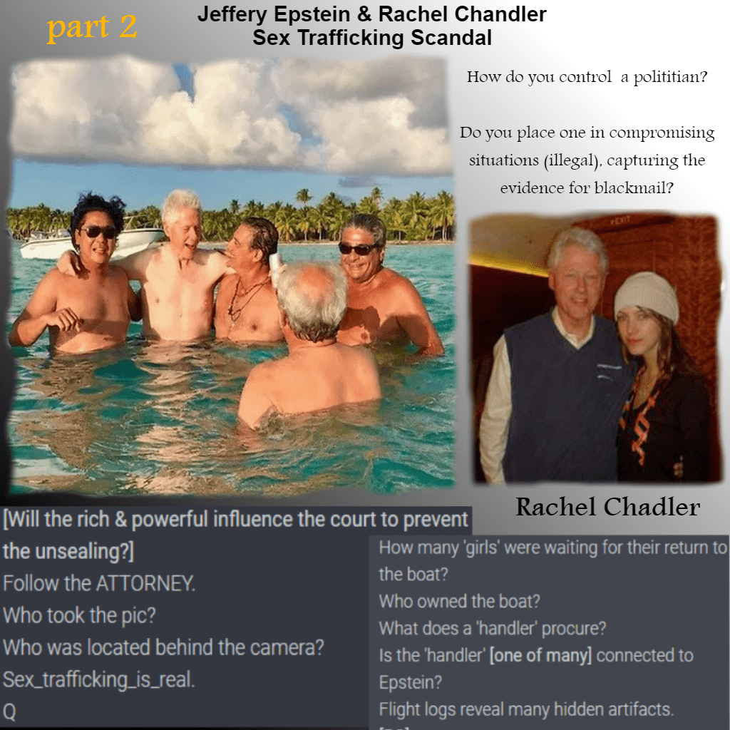 JEFFREY EPSTEIN AND RACHEL CHANDLER SEX TRAFFICKING SCANDAL