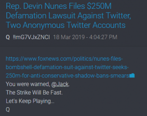Nunes $250M Lawsuit Against Twitter Over  Anti-conservative 'shadow bans'