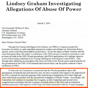 Lindsey Graham Investigating Allegations Of Abuse Of Power