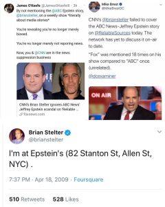 CNN Brian Stelter Ignores ABC News Epstein Connection
