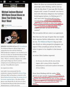 Michael Jackson Musical Blames Sexual Abuse on Glove That Drinks Young Boy's Blood