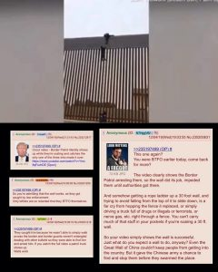 Illegal Border Crossing Trump's Wall as Ice Arrested 1/3