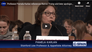 Professor Pamela Karlan References Baron Trump and Later Apologizes for It