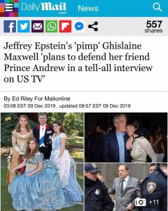 "Jeffrey Epstein's ""Pimp"" Ghislaine Maxwell ""plans to defend her friend Prince Andrew In a tell-all interview on US TV"""