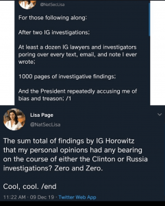 Lisa Page Response to IG Report