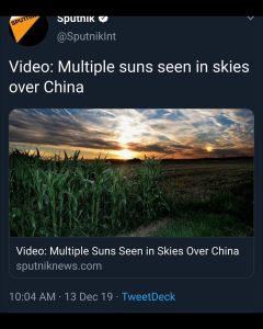 Multiple Suns Seen in Sky Over China
