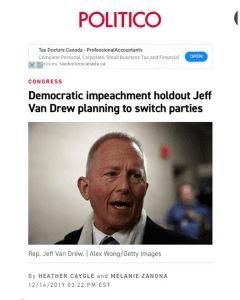 Democratic Impeachment Holdout Jeff Drew, NJ (D)