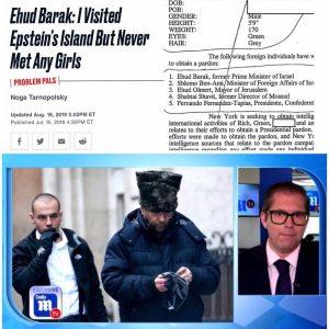 Ehud Barak: I Visited Epstein's Island But Never Met Any Girls