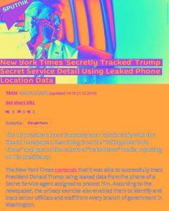 "New York Times ""Secretly Tracked"" Trump Secret Service Using Leaked Phone Data"