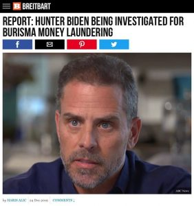 REPORT: HUNTER BIDEN BEING INVESTIGATED FOR BURISMA MONEY LAUNDERING
