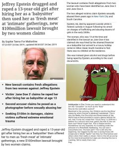 """Jeffrey Epstein Drugged And Raped a 13-Year-Old Girl After Hiring Her As A """"Babysitter"""" Then Used Her As """"Fresh Meat"""" At """"Intimate"""" Gatherings, New $100 Million Lawsuit Brought Forward By Two Women"""