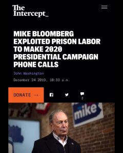 Mike Bloomberg Exploited Prison Labor To Make 2020 Presidential Campaign Pone Calls