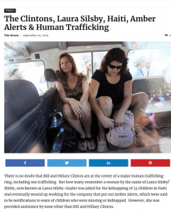 The Clintons, Laura Silsby, Haiti, Amber Alerts & Child Sex Trafficking