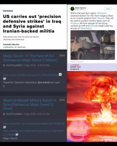 """US Carries Out """"Precision Defensive Strikes"""" In Iraq and Syria Against Iranian Backed Militia"""