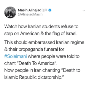 VIDEO: Iranian Student s Refuse To Step On American & The Flag of Israel