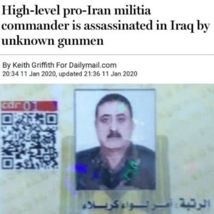 High Level Pro-Iran Militia Commander Is Assassinated In Iraq By Unknown Gunman