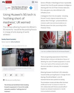 We are only safe from Huawei 5G because of Trump, the world would be covered in …