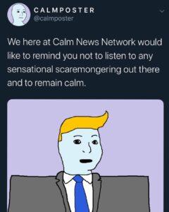 "The Calm News Network ""Bring the calm."" Via @qanonnotables #thegreatawakening…"
