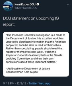 Statement from AG Barr Spokesperson H/T @filthyliberals…
