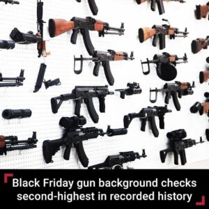 The FBI ran the second-highest number of gun background checks on Black Friday 2…