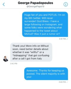 UPDATE on deleted tweet about Misfud being captured by Italian Intelligence… G…