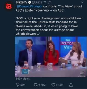 Your daily reminder @abcnews & @cbsnews coordinated together to cover up the Eps…