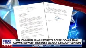 Catherine Herridge reports @SenRonJohnson is requesting all emails shared on the unsecured server between @HillaryClinton and @BarackObama