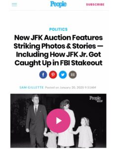 New JFK Auction Features Photos & A Story On How JFK Jr. Got Caught Up in FBI Stakeout