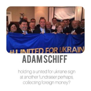 Read more about the article My my my, what is this? It's @repadamschiff holding a #UNITEDFORUKRAINE sign!…