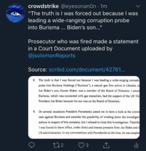 Prosecutor who was fired on behalf of @JoeBiden's request made a statement in a …