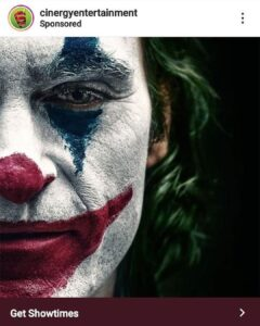 One of my followers saw an ad for the joker movie and it shows the left eye whic…