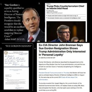 This is a temper tantrum by the deep state. Sue Gordon was their last hope. Trum…