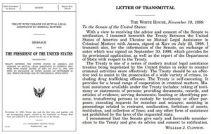 Did you know there is a treaty between the US and Ukraine regarding cooperation …