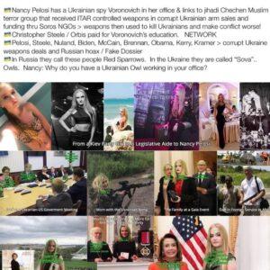 Nancy Pelosi, Has A Ukrainian Spy Vonorvich In Her Office & Links To Jihadi Chechen Muslim Terrorist Group