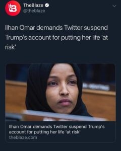 I demand @IlhanMN be deported because every single day she is still in this coun…