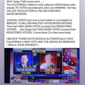 Gavin Newsom is a FAKE GOVERNOR @gavinnewsom SATAN in the FLESH!!…