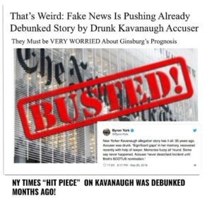 That's Weird: Fake News Is Pushing Already Debunked Story by Drunk Kavanaugh Acc…