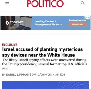 Israel Accused of Placing Multiple Spying Devices near the White House…