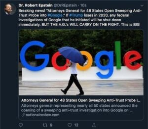 "Robert Epstein ""Breaking news! ""Attorneys General for 48 States Open Sweeping An…"