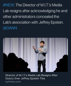 This MIT media Lab, hid information for Epstein… TICK TOCK… this is NOT goin…