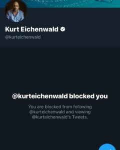 Read more about the article I exposed Kurt Eichenwald, a @NYTimes reporter and pedophile via twitter. Blocke…
