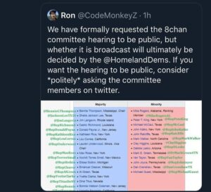 Please help urge @homelanddems on twitter to air the hearing to the public, kind…