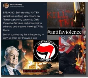 ANTIFA is now calling Child Protective Services to take away children from paren…