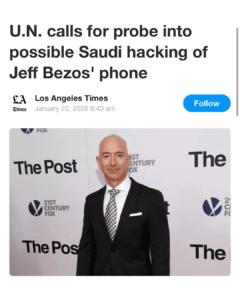 U.N. Calls For Probe Into Possible Saudi Hacking Of Jeff Bezos' Phone