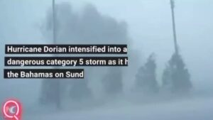 Read more about the article Hurricane Dorian intensified into a dangerous category 5 storm as it hit the Bah…