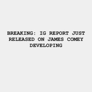OIG concludes that the memos were official FBI records. Comey violated applicabl…