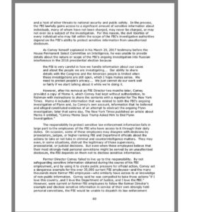 Conclusion section of IG report on James Comey _ _ _Source: …