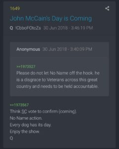 Q confirmed No Name Action before DOD….