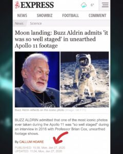 "Buzz Aldrin Admits The Moon Landing ""It Was So Well Staged"" In Unearthed Aplollo 11 Footage"