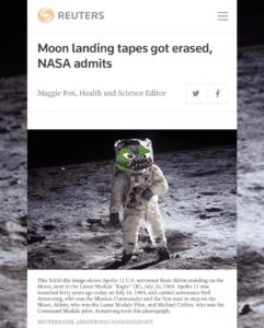 NASA Admits The Moon Landing Tapes Got Erased…